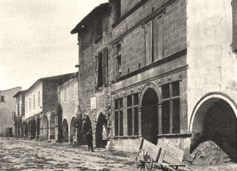 Associate Product GIRONDE. Saint-Macaire- Place du Marché. SMALL. 1904 old antique print picture