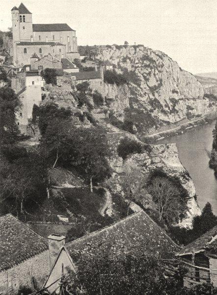Associate Product LOT. Saint-Cirq- Lapopie 1904 old antique vintage print picture