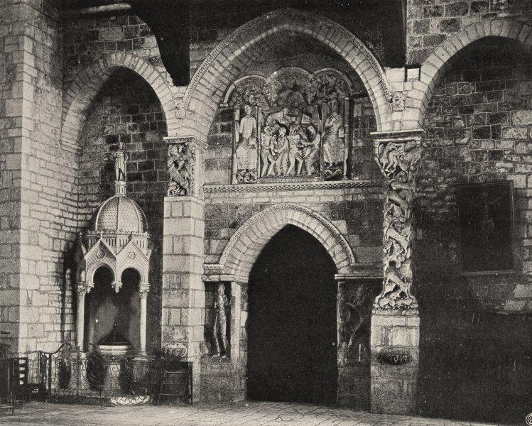 Associate Product LOT. Souillac- Intérieur de I'église 1904 old antique vintage print picture