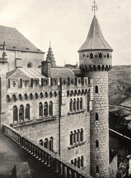 Associate Product LOT. Rocamadour- Église 1904 old antique vintage print picture