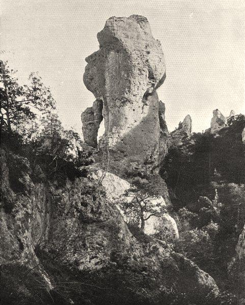 Associate Product AVEYRON. Montpellier-le-Vieux- La Belle- Mère 1903 old antique print picture