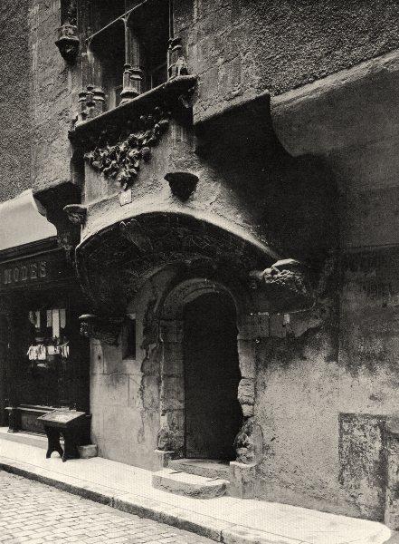AVEYRON. Villefranche- Vieille maison 1903 old antique vintage print picture