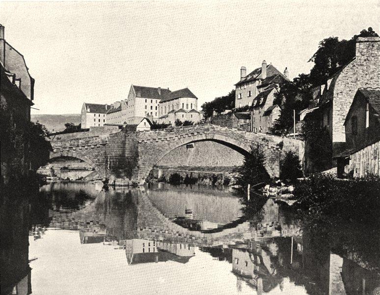 Associate Product LOZÈRE. Mende- Pont Notre- Dame 1903 old antique vintage print picture