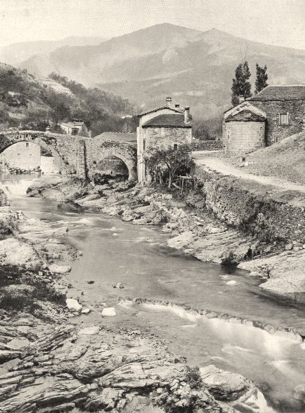 Associate Product LOZÈRE. Villefort et les monts Lozère 1903 old antique vintage print picture