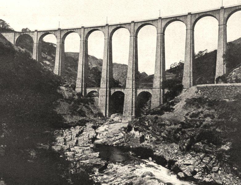 Associate Product LOZÈRE. Villefort- Viaduc de I'Altier 1903 old antique vintage print picture