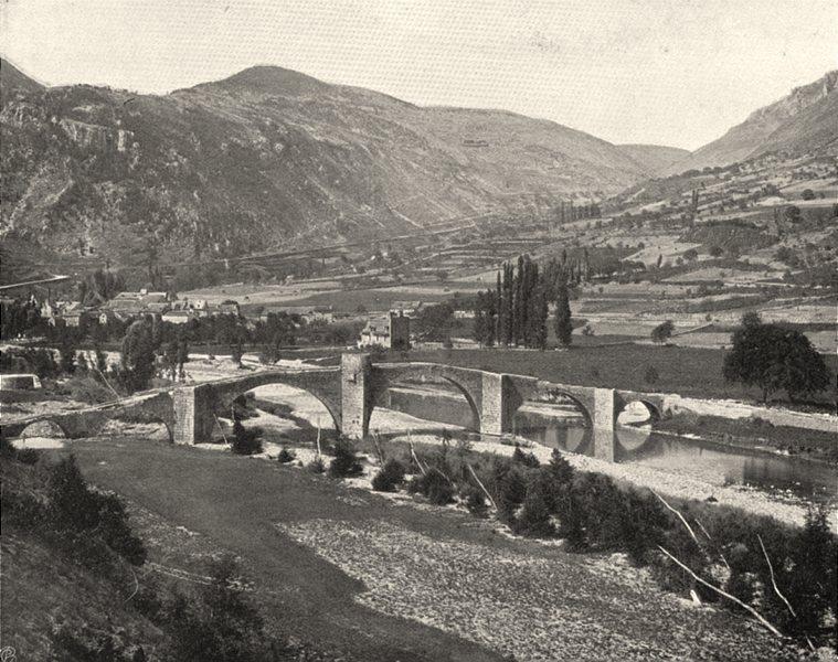 Associate Product LOZÈRE. Pont de Quèzac 1903 old antique vintage print picture