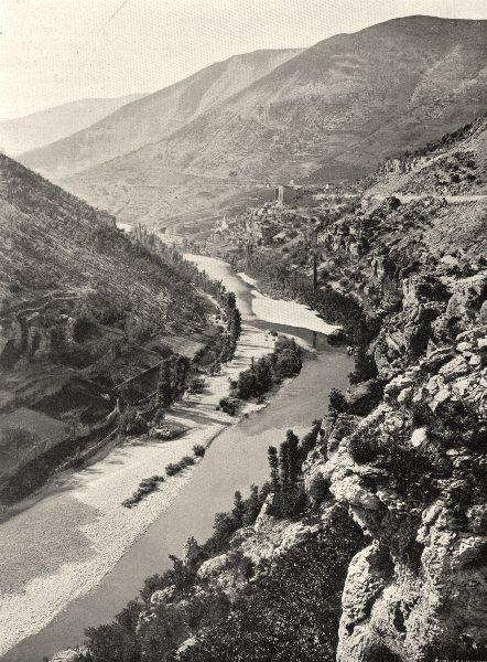 Associate Product LOZÈRE. Le Tarn au- dessus de Sainte-Énimie 1903 old antique print picture