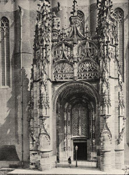 Associate Product TARN. Albi- Cathédrale. porche 1903 old antique vintage print picture