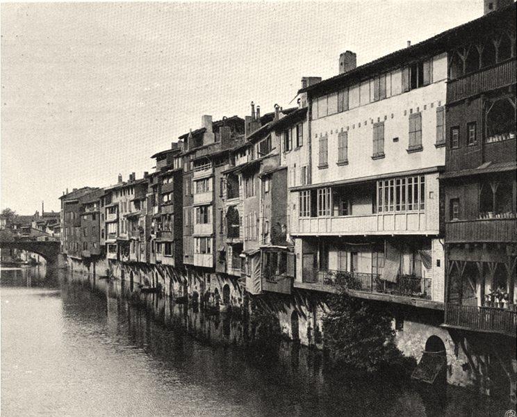 Associate Product TARN. Castres- Bords de I'Agout 1903 old antique vintage print picture