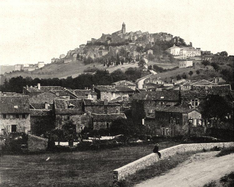 TARN. Cordes- Vue générale 1903 old antique vintage print picture
