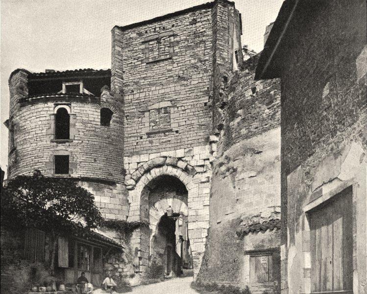 Associate Product TARN. Cordes- Porte de I'Ouest 1903 old antique vintage print picture