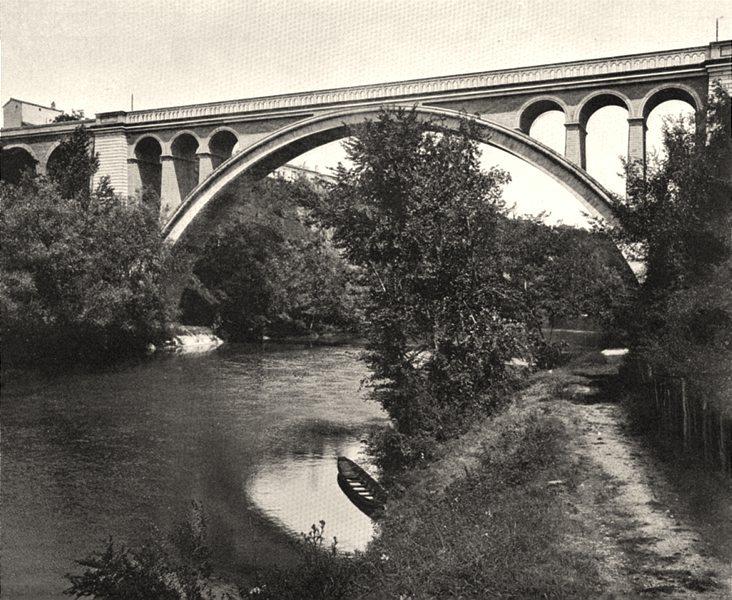 Associate Product TARN. Lavaur- Viaduc du chemin de fer 1903 old antique vintage print picture