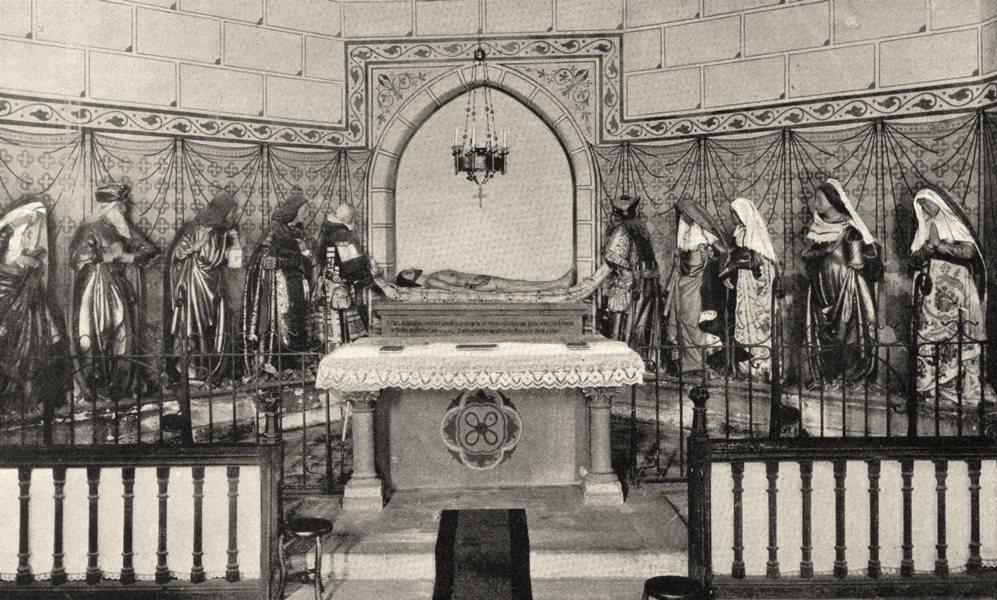 Associate Product TARN. Église de Monestiès (Tarn) - Le Christ au tombeau 1903 old antique print