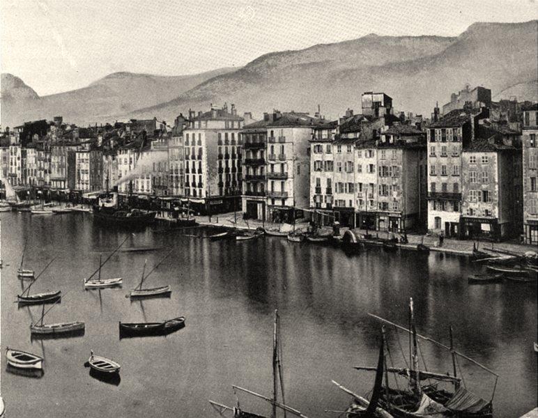Associate Product VAR. Quai de Kronstadt, à Toulon 1903 old antique vintage print picture