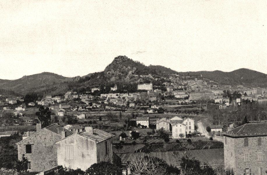Associate Product VAR. Vue générale d'Hyères 1903 old antique vintage print picture