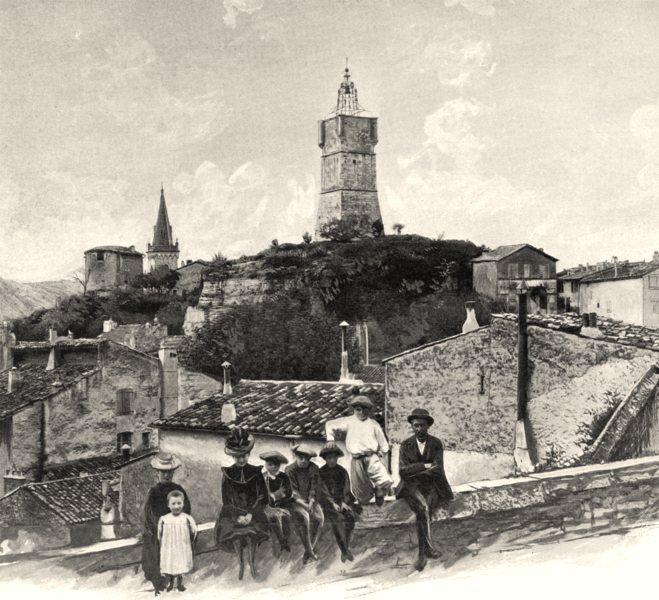 Associate Product VAR. La tour de I'Horloge, à Draguignan 1903 old antique vintage print picture