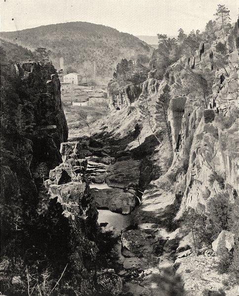Associate Product VAR. Les gorges de Pennafort, au Muy 1903 old antique vintage print picture