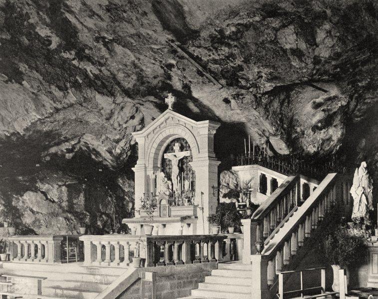 Associate Product VAR. La Sainte-Baume. La grotte 1903 old antique vintage print picture