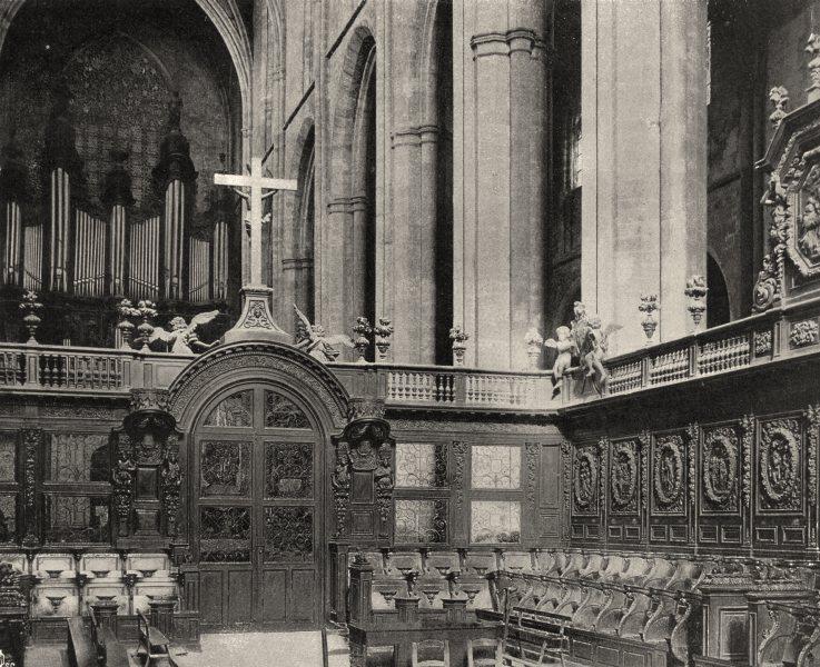 Associate Product VAR. Intérieur de I'église de Saint-Maximin 1903 old antique print picture