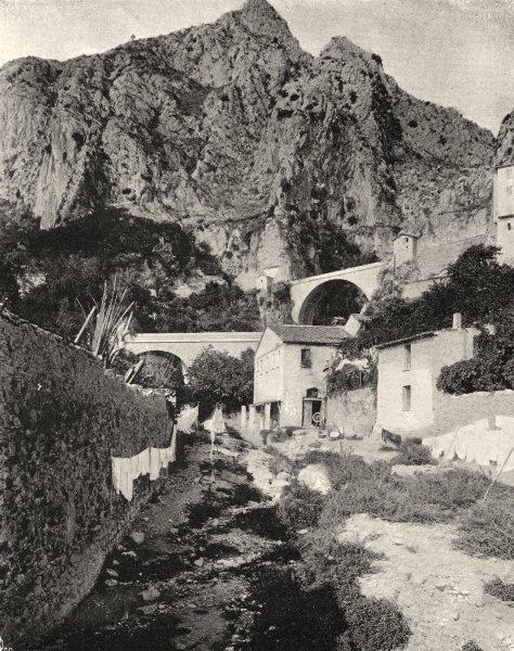 Associate Product ALPES-MARITIMES. Le pont Saint-Louis, à Menton 1903 old antique print picture