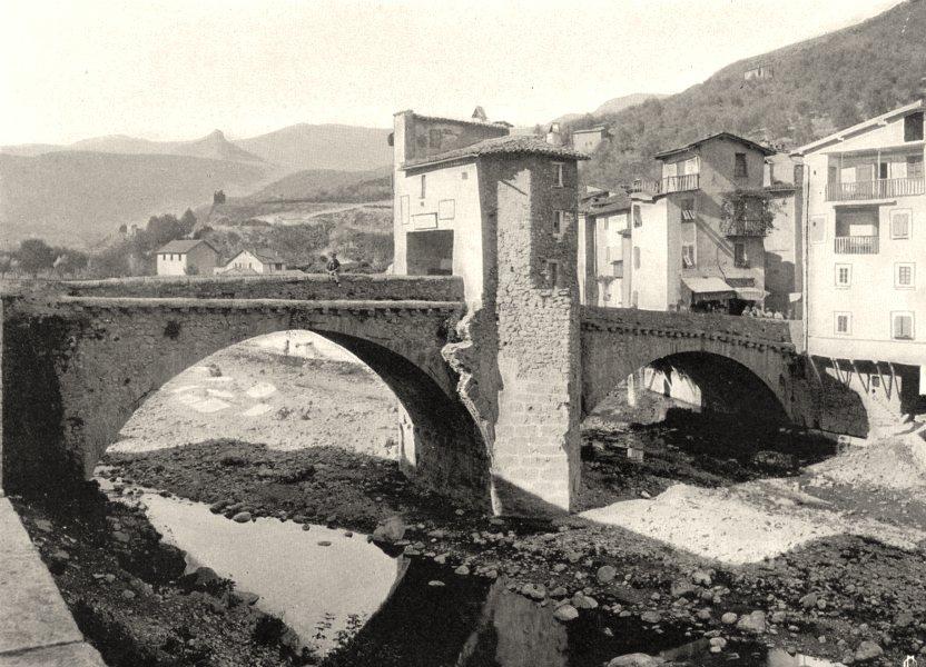 Associate Product ALPES-MARITIMES. Pont de Sospel 1903 old antique vintage print picture