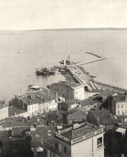Associate Product ALPES-MARITIMES. Le port de Cannes 1903 old antique vintage print picture