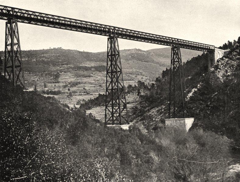 ALPES-MARITIMES. Le port de Tanneron 1903 old antique vintage print picture