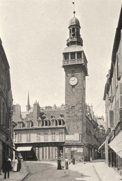 Associate Product ALLIER. Moulins- Le beffroi 1905 old antique vintage print picture