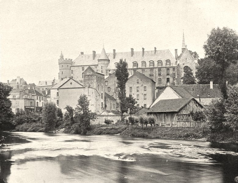Associate Product ALLIER. Lapalisse- Château 1905 old antique vintage print picture