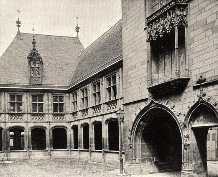 CHER. Bourges- Palais Jacques Coeur. cour 1905 old antique print picture
