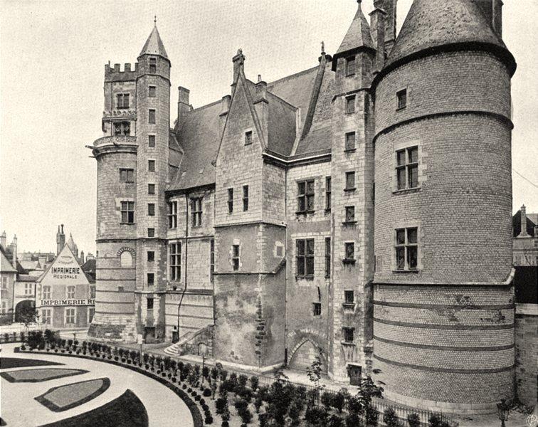 Associate Product CHER. Bourges- Palais Jacques Coeur. façade sud 1905 old antique print picture