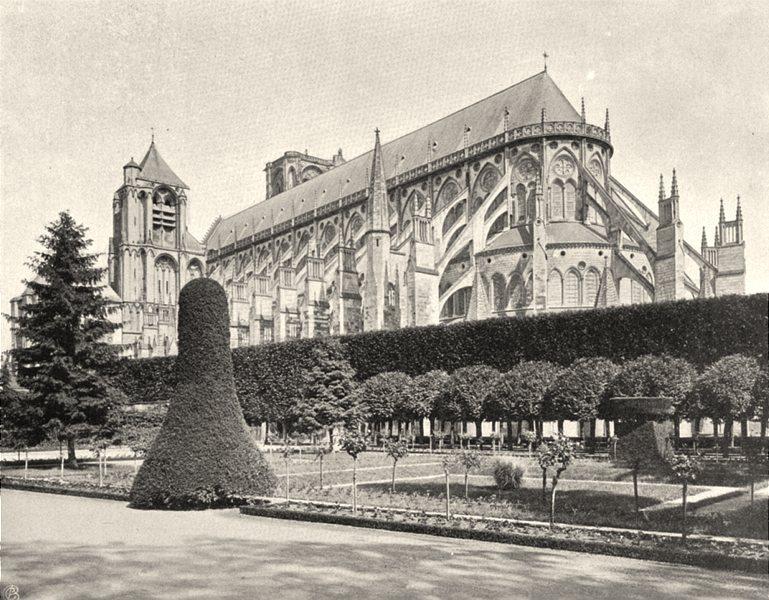 Associate Product CHER. Bourges- Abside de la cathédrale 1905 old antique vintage print picture