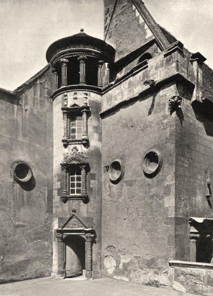 Associate Product CHER. Bourges- Hôtel Lallemant. tourelle 1905 old antique print picture