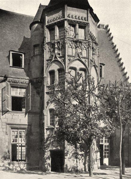 Associate Product CHER. Bourges- Cour du Petit Lycée. tourelle d'escalier 1905 old antique print