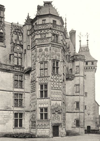 Associate Product CHER. Meillant- Tourelle du château 1905 old antique vintage print picture