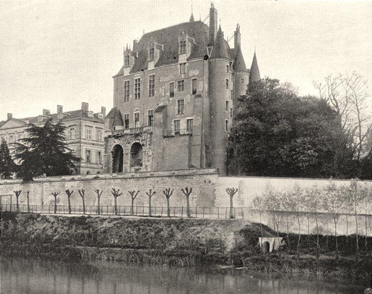 Associate Product INDRE. Châteauroux- Château Raoul, côté de la Rivière 1905 old antique print