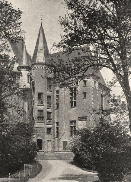 Associate Product INDRE. Châteauroux- Château Raoul, côté du jardin 1905 old antique print