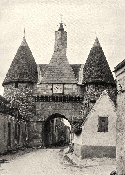 Associate Product INDRE. Châteauroux- Porte de Déols 1905 old antique vintage print picture