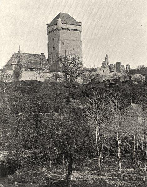 Associate Product INDRE. Tour de Prunget 1905 old antique vintage print picture