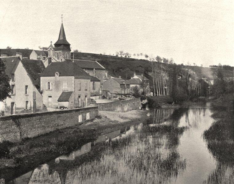 Associate Product INDRE. Pont- Chrétien 1905 old antique vintage print picture