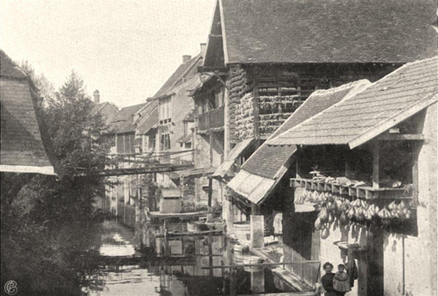 Associate Product INDRE. La Châtre- Bords de la Rivière. SMALL. 1905 old antique print picture