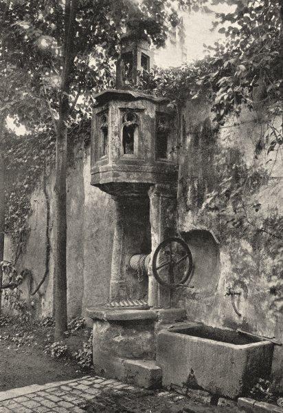 Associate Product INDRE. La Châtre- Vieux puits 1905 old antique vintage print picture