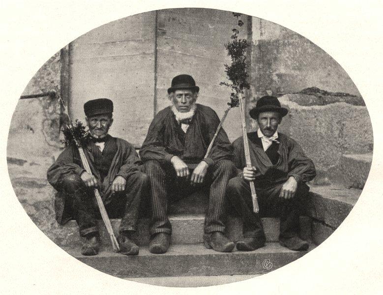 Associate Product NIÈVRE. Paysans du Morvan 1905 old antique vintage print picture