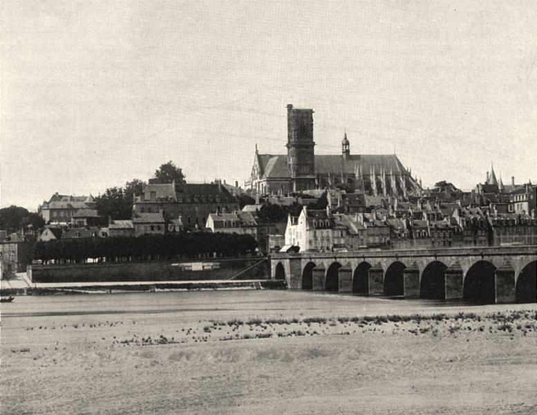 Associate Product NIÈVRE. Nevers- Vue générale 1905 old antique vintage print picture