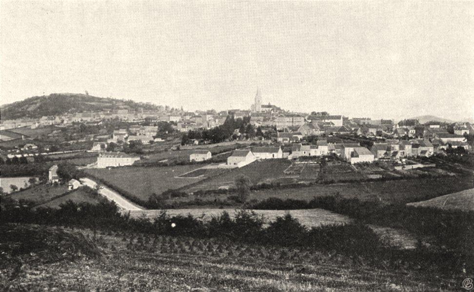 Associate Product NIÈVRE. Château- Chinon- Vue générale 1905 old antique vintage print picture