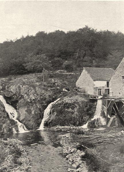 Associate Product NIÈVRE. Le saut de Gouloux 1905 old antique vintage print picture