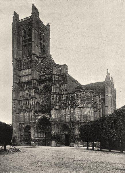 Associate Product YONNE. Auxerre- Cathédrale. ensemble 1905 old antique vintage print picture