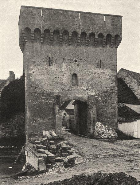 Associate Product YONNE. Druyes-les-Belles- Fontaines- Vieille porte 1905 old antique print