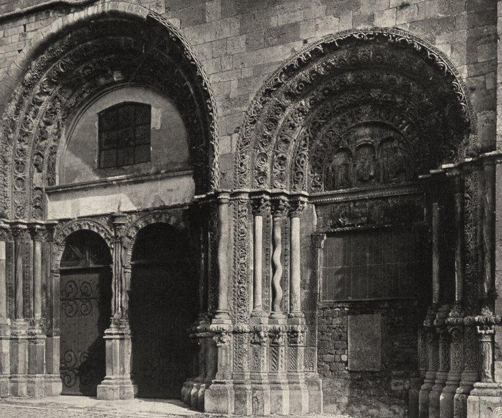 Associate Product YONNE. Avallon- Porte de I'Église Saint-Lazare 1905 old antique print picture
