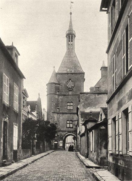 YONNE. Avallon- Porte de I'Horloge 1905 old antique vintage print picture